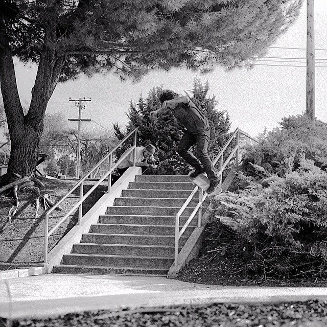 One of our favorites from #issue31 #steezmagazine For years we've had shots of @_jasonross shredding some gnarly spots, now he's behind the lens thanks to @muchnikphoto with his first published photo of this @mosessalazar #feeble and it's film too! All...