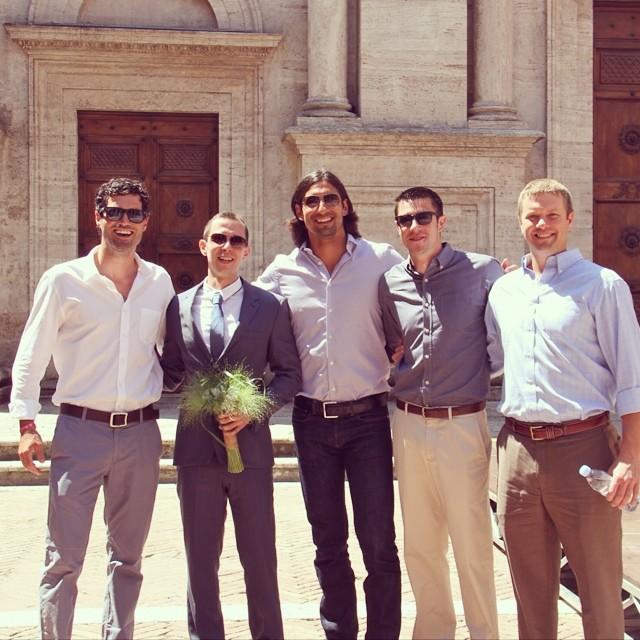 Congrats Thomas! Good times bringing the band back together in Tuscany. #frat @jervy77