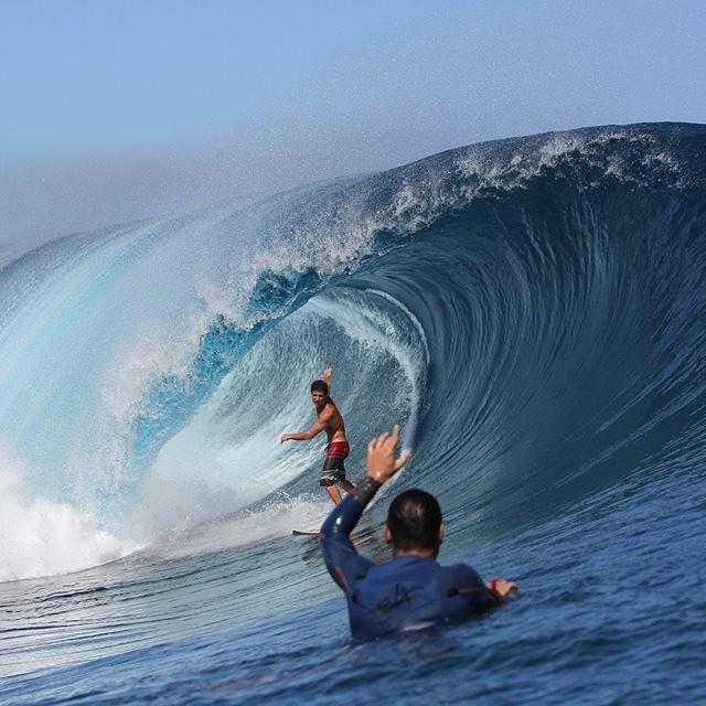 Tehuppo, French Polynessia, belleza en estado puro. @juanmanuelarca  #soul #surfing #waves #reefargentina
