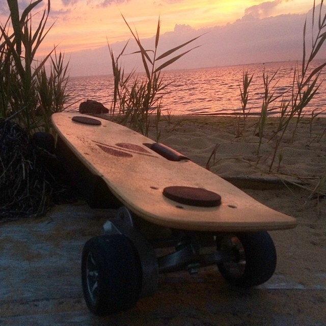 ZBoards love long walks on the beach.  Regram from @twhools78