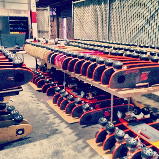 Late night at the #ZBoard Shop.