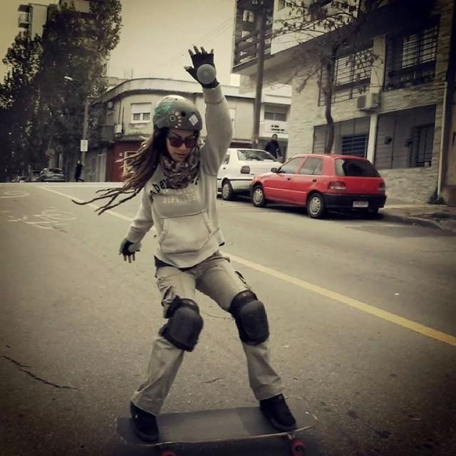 Did you know Lola? This Uruguayan-Brazilian girl is killing it! #longboardgirlscrew #girlswhoshred