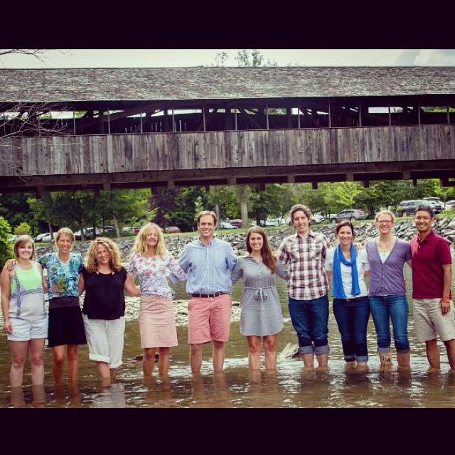 The 1% for the Planet team had a #photo shoot, here is our favorite! How do we look? #loveblue #vermont #1percentftp