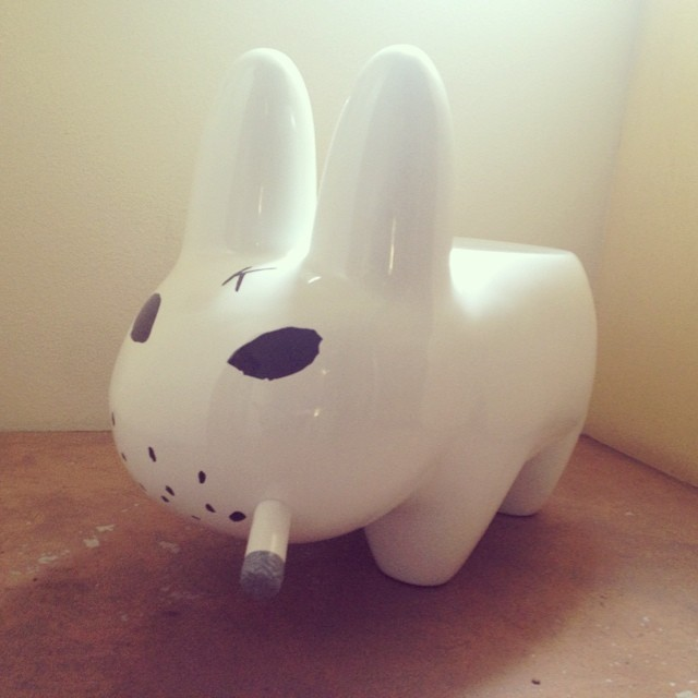 Newest furniture investment in the HOUSE!!! @kidrobot #kozik #labbit