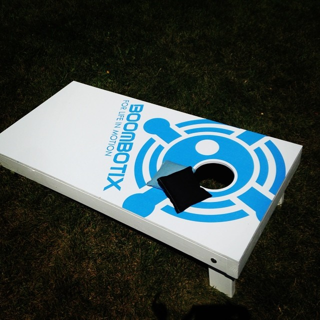 Oh yeaaaa peep these corn hole boards. Who's up for a game? #goodtimes #boombotix @trafik_la