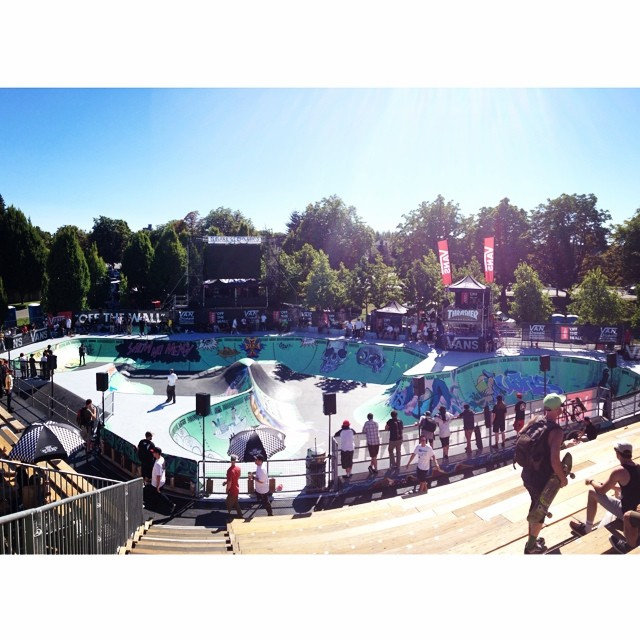 The #vandoreninvitational finals are going down today! All the best bowl skaters in the world. If your in #Vancouver you don't want to miss this!
