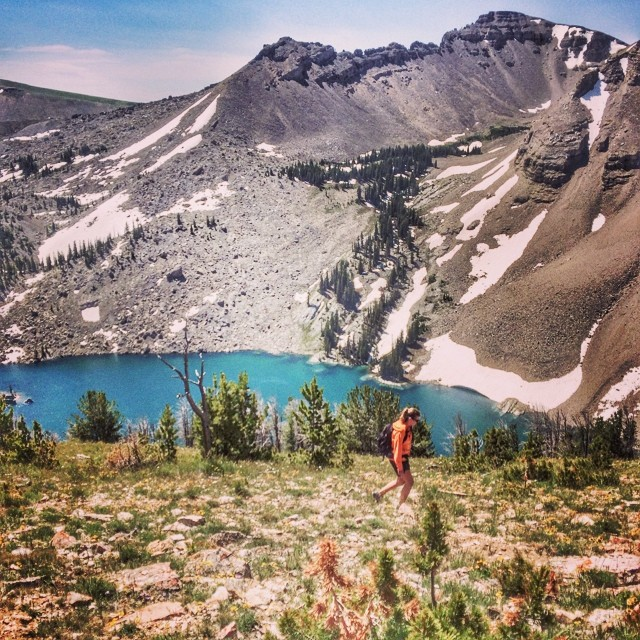 Because the #Caribbean doesn't have #mountains, we settled for #blueminerlake in our backyard of #jacksonhole! The 24 mile trek was well worth the views from #sheepmountain #sleepingindian #hike #hiking #explore