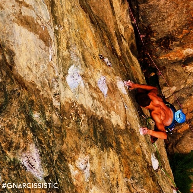 Weekends here. Time to climb. #GNARCISSISTIC #climb #cal  PC: @haesiclimber