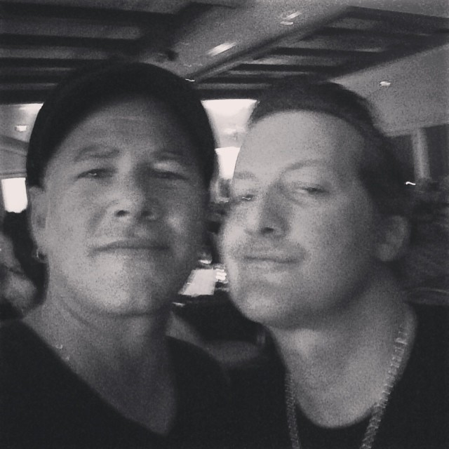 Matt Stone of BBR and Tre Cool of Green Day.  What an amazing night at the Pipeline To A Cure charity event for CF. A lot of money was raised for the cause.  #mattstone #trecool #bbrsurf #bbr  #buccaneerboardriders #greenday #pipelinetoacure