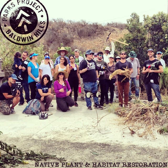 What a crew! We joined @calparks on a volunteer day at #BaldwinHills #statepark. Stoked to support their Park Champions initiative - a statewide program across 25 #radparks that are in most need of support. Check out the full story on our field notes...