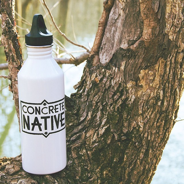 Stay hydrated on your conquests with the Concrete Native x Mizu water bottle #mizulife #ecofriendly #hydration #concretenative