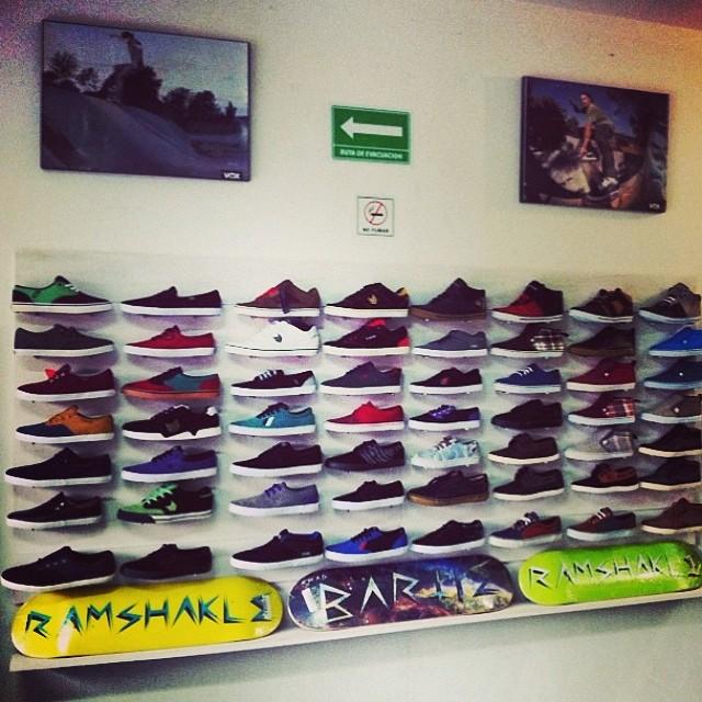 Nice display at @exclusivesk8shop