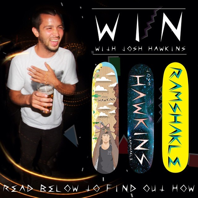 @josh_hawkins part is now up on @thrashermag and to celebrate we are giving away a bunch of prizes! To win: post a vid or pic of some ditch shredding, tag @gramshakle and #ditchandwin and josh will pick the winners in a few weeks!