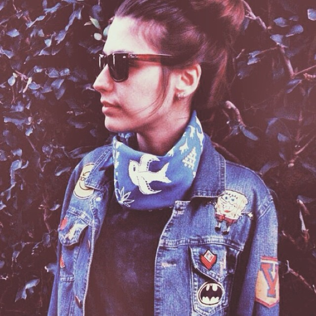 #scarf #bandana #pixel #pixelart #design #stamp #fashion #mode #look #style #blue