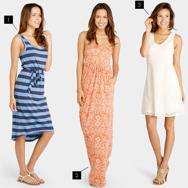Summer dressing as easy as 1, 2, 3... #summer #dresses #organic #fashion #style #prints #stripes #eyelet @organinbeautytalk