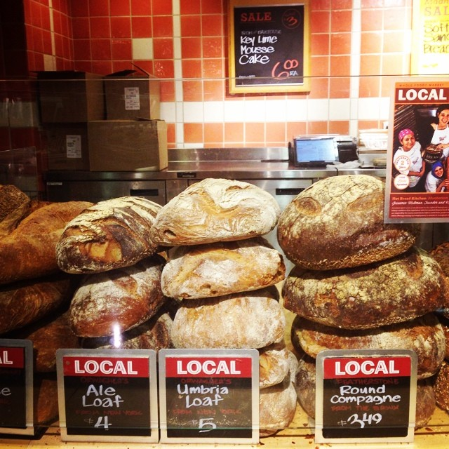 Love the #local fresh baked @wholefoodsnyc breads.