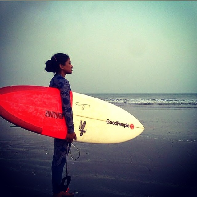 happy to support Nasima in Bangladesh #awesome #teamawesome #albumsurfboards #surfing #surf #madeincalifornia