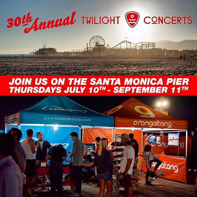 Join us tonight on the @santamonicapier for the FREE Cayucas w/ Papa #TwilightConcerts. We will be doing longboard tune-ups at our booth so stop on by your board!