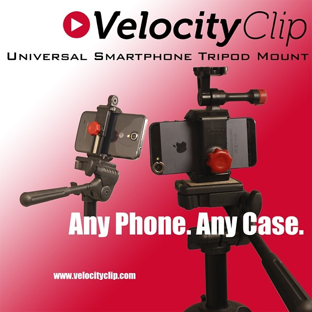Use your #velocityclip to mount your #smartphone to any standard tripod. No need to spend extra money on yet another #camera when you already carry a great one in your pocket.