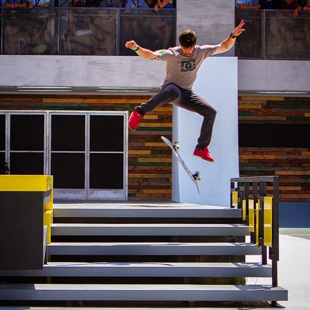 On August 1, eight of the world's premiere street skaters are going to be competing at the ESPN headquarters in Bristol, CT including X Games champ @chriscobracole . Check the teaser for ESPN Game Of Skate at XGames.com  #espngameofskate