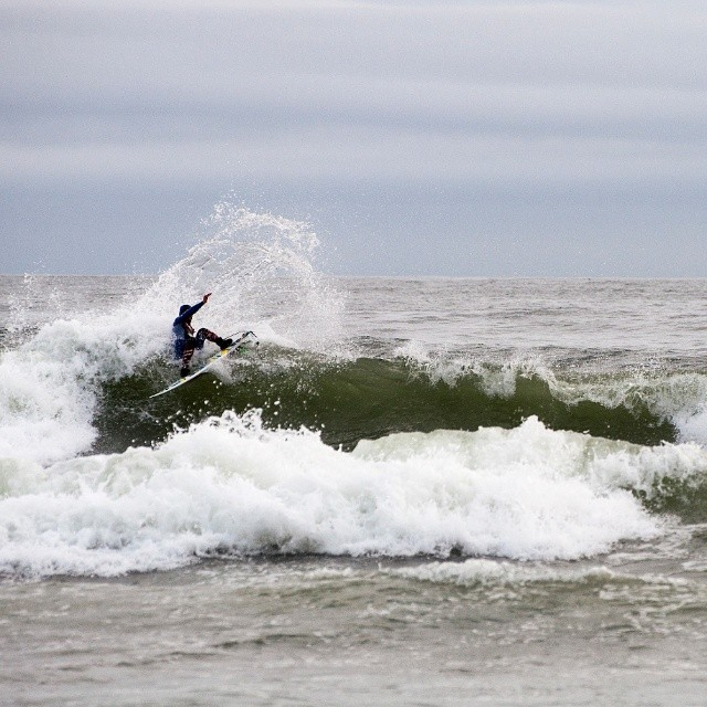 Northern waters. They are dark, grey and cold and we like them that way. Don't you?  Photo by @josefin_svedberg #coldwatersurf #northerwaters #surfing #westcoast #pinesnotpalms