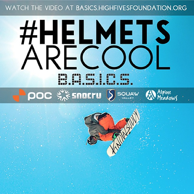 The World Premiere of the @hi5sfoundation B.A.S.I.C.S. Program's latest safety documentary, #HelmetsAreCool is now live (basics.highfivesfoundation.org) Watch it, share it and be safe this winter with your helmet!