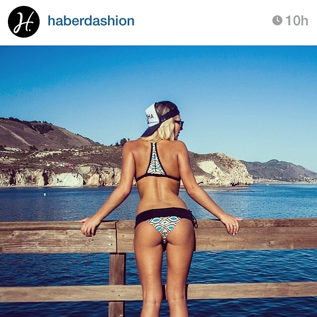 The real question is... Where did @haberdashion find a tan body in NorCal?! Thanks for this beautiful pic guys! #haberdashion #fashion #bikini #surf #surfbikini #california