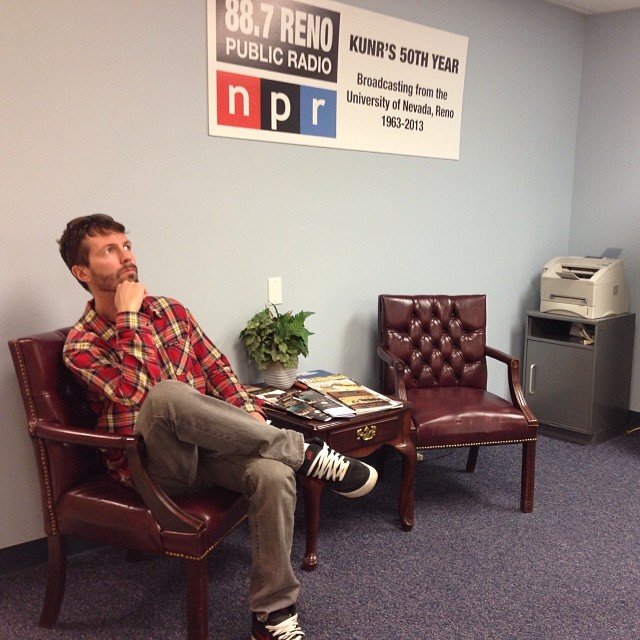 @a_balloon is always thinking and is in his element while listening to #NPR