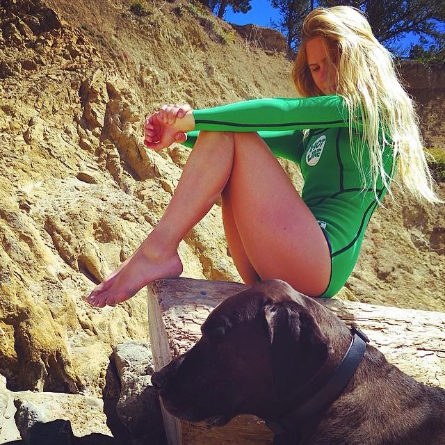 ~All green everything~ #BootySuit #CaliforniaSummer #SantaCruz #Babe
