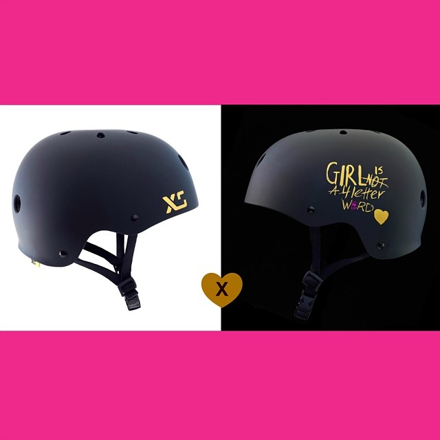 Good girl/Bad girl. We are proud to announce the @xshelmets x @girlisnota4letterword signature collab helmet.