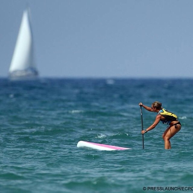 Go Bailey Go!!!! We know you will do great today!!! #molokai2oahu #m2m #miola #miolainaction #muse #sup #mermaid @bailey.rosen