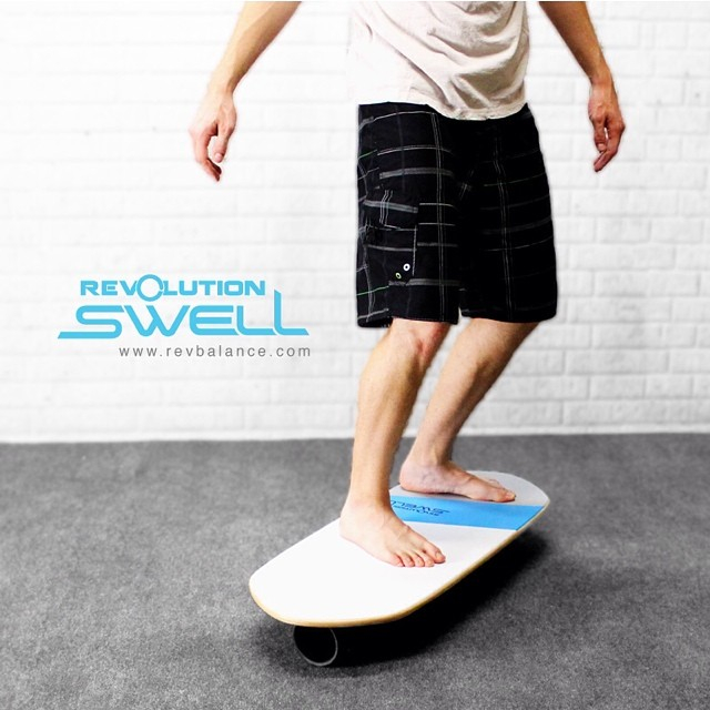 The REVOLUTION // S W E L L // #balanceboard Loved by surfers and paddle boarders, this board gives you a great way to improve heel-toe and left-right balance. This combination is vital for water sports, and the Swell makes it fun to improve your total...