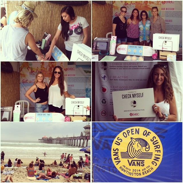The #VansUSOpen of surfing kicked off this weekend & #B4BC was there for all of the action. Our #CheckOneTwo outreach booth will be onsite all week educating beach goers about early detection & #prevention. So if you're coming to Huntington Beach...