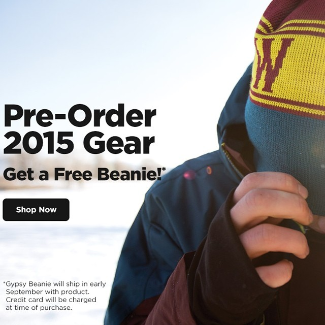 Our 14/15 gear and website is now live at www.trewgear.com.  Pre-Order and receive a free beanie! Additional special products to debut in early September.