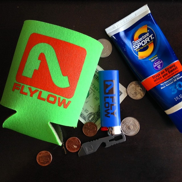 Just cleaning out the pockets from the weekend adventure. #flylowpartypack #therewasmore$