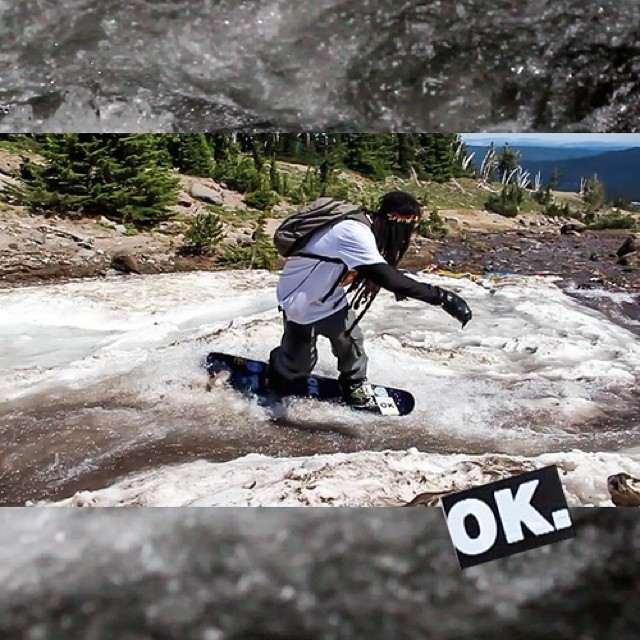 Every day at #mthood in the summer the mountain loses around a foot of snow due to the melt. @space_rok taking full advantage - check the edit later this week! #forridersbyriders #handmadelaketahoe