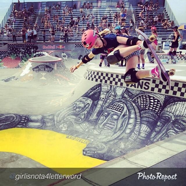 """by @girlisnota4letterword """"@poppystarr flying high at the #vandoreninvitational practice session #vanswbowl #vansusopen"""""""