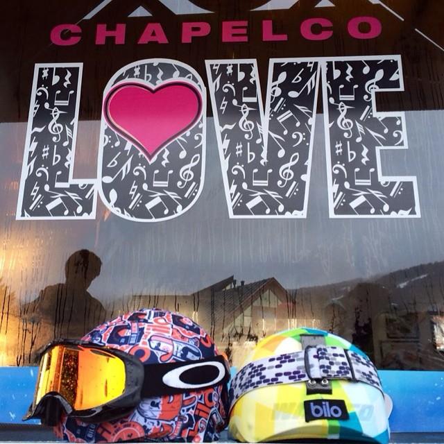 Estamos donde queremos estar!Amamos lo que hacemos.. #bilo #love @bilohelmets #chapelco2014