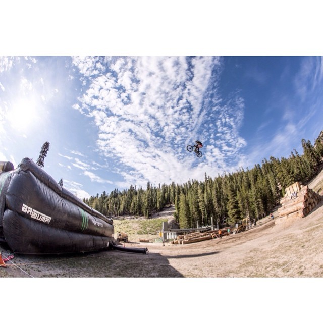 @camzink working on the distance over the weekend. The #MammothFlip is coming August 21st at @mammothmountain presented by @monsterenergy