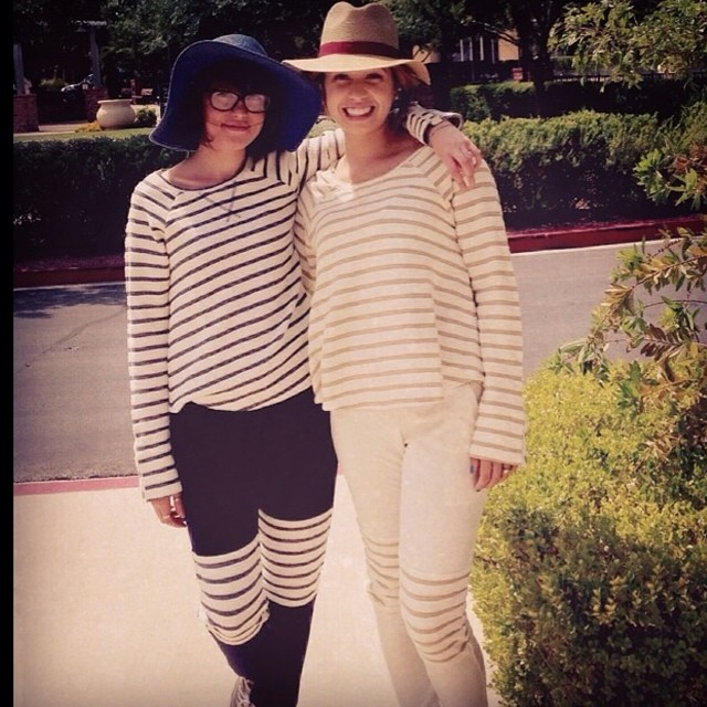 Love the ladies of @WFMhenderson rocking T4T head to toe! #summer #threads #eco #organic #style #stripes #wholebody #twinsies