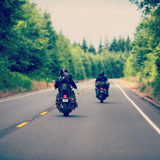 "Motorbike Monday // ""Choose the path that calls to you, when you arrive; you are exactly where you are meant to be."" Photo: @dylanozanich #motorbikemonday #pthwys #soleswithsoul"