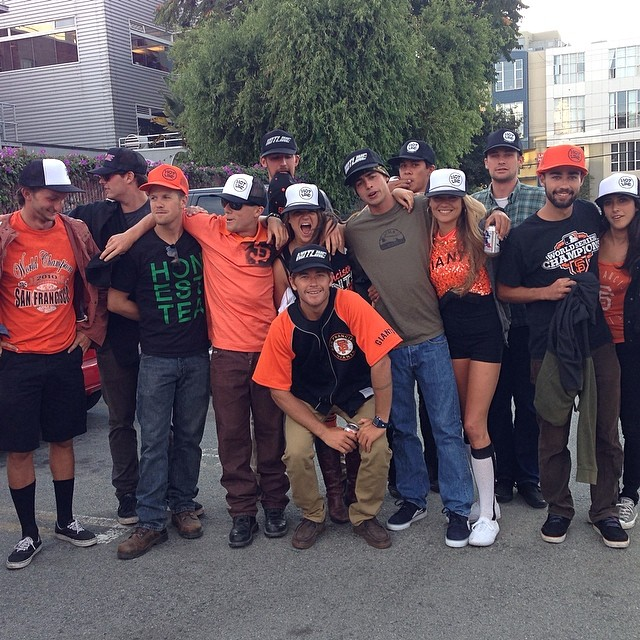 ~Santa Cruz State Lifeguards reppin Hotline at the Giants Game yew! ~ #GoGiants #HotlineWetsuits #SantaCruz #Lifeguards
