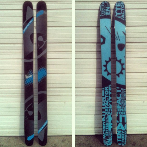 187 Carbon Pows are looking good! And feeling good too at 8.7 lbs for the pair with a 119 mm waist. Get your preorders in at kittenfactoryskis.com before November 1st to save some money and to have your skis in time for the early season pow!...
