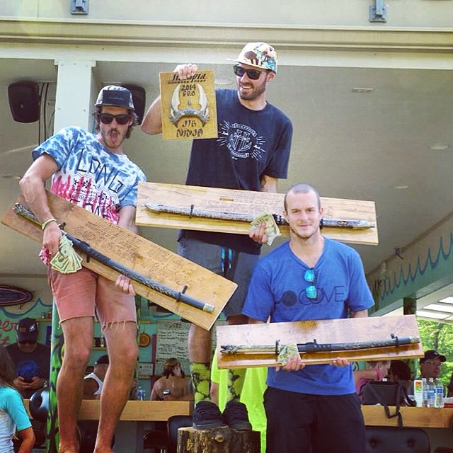 Trophy Tuesday... That time @wesleymarkjacobsen took 2nd at @jibtopia Jib Ninja contest // always the best trophies! // #samari #ninjasword #trophy #wakeboard #happyshredding #eatmyjorts  #jibninja