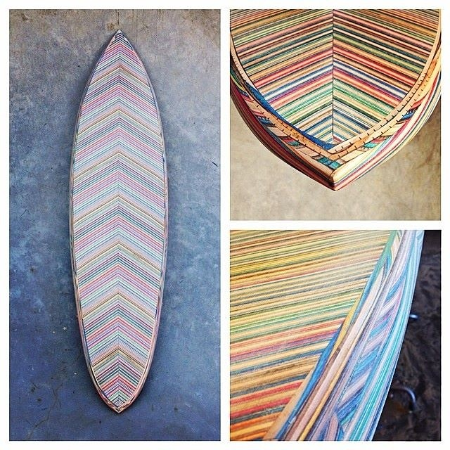 Exciting new project from @iris_skateboards --> the Iris Recycled Surfboard made entirely from recycled skateboards! Follow them for updates on the process and check out their awesome #recycledskateboards on our site:...