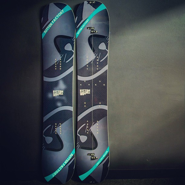 2014 Landshark carbon fiber snowboard and Splitshark carbon fiber splitboard. All you need to shred the pow both in and out of bounds this winter. Preorder yours now at kittenfactoryskis.com #kittenfactory