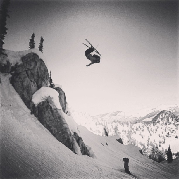 Calvin sending a backy last January in some classic Wasatch side country! #kittenfactory