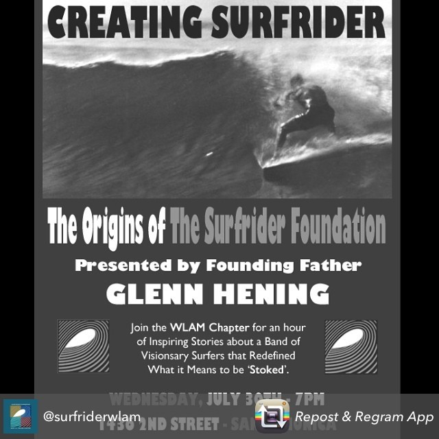 Join West LA and Malibu Surfrider Foundation tomorrow at 7PM in Santa Monica! @surfriderwlam #goflow