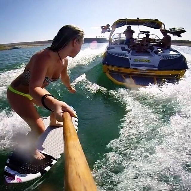 Photo of the day from @lbbby #wakesurf #wakesurfing #keepitfresh submit your shred shots to info@slayshTank.com
