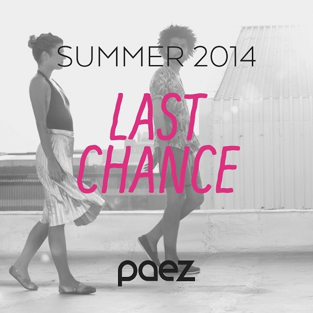 Endless summer full of last chances! get your #paezshoes #paezsummer